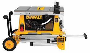 dewalt 10 portable table saw dewalt dw744xrs 10 inch job site table saw with rolling stand