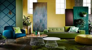 colorful modern eclectic lounge interior design decorating with