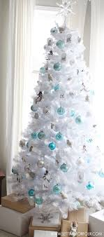 winter woodland glam white tree setting for four