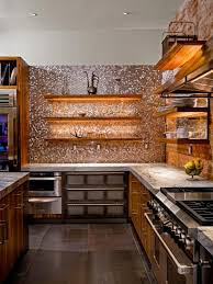 tile backsplashes for kitchens metal backsplash ideas hgtv
