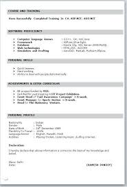 resume format for word simple resume format for freshers in word file template