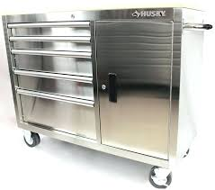 stainless steel workbench cabinets husky tool chest husky 5 drawer stainless steel rolling workbench