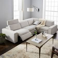 west elm reclining sofa enzo reclining 4 seater sectional west elm
