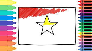 how to draw vietnam flag drawing the vietnamese flag coloring