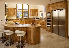 solid wood kitchen cabinets ireland bespoke solid wood made shaker elm peninsula