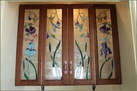 Glass Front Kitchen Cabinets Leaded Glass Door Image Collections Glass Door Interior Doors