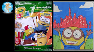 crayola color wonder minions movie coloring pages review family