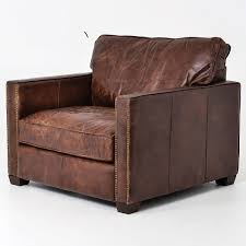Leather Armchairs Vintage Larkin Vintage Cigar Distressed Leather Club Chair Zin Home