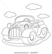 coloring book cartoon funny car lorry stock vector 222416818