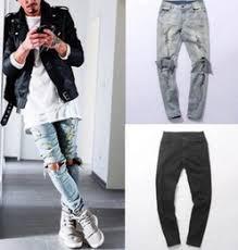 Mens Destroyed Skinny Jeans Discount Mens Black Ripped Knee Jeans 2017 Black Skinny Jeans