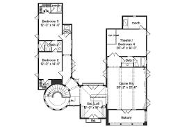 mediterranean style house plan 4 beds 3 50 baths 4923 sq ft plan