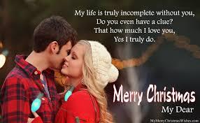cute merry christmas wishes boyfriend girlfriend romantic