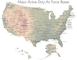Florida Attractions Map Art Usaf Bases Map Air Force Facilities United States Nuclear U S