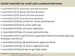 top 5 retail sales assistant cover letter samples
