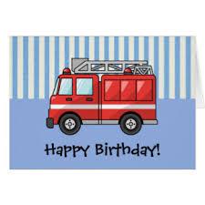 fire truck birthday cards u0026 invitations zazzle com au
