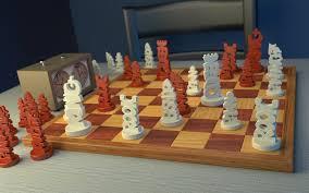 interior accessories ideas using unique chess sets design