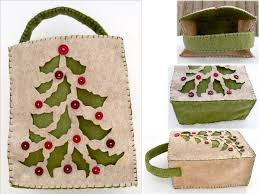 tree felt gift bag by ursulapatch on deviantart