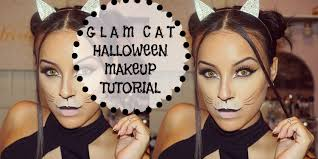 easy face makeup for halloween super easy glam cat halloween makeup tutorial victoria sofia