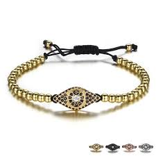 men bracelet design images Rhinestone evil eye design beaded men bracelet male jewelry jpg