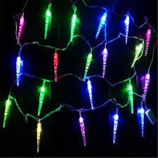 battery operated icicle christmas lights 3m 20led battery operated led icicle stick fairy string lights for