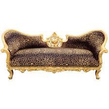 canapé napoléon 3 baroque napoléon iii tissu léopard et bois doré
