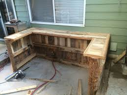 upcycled pallet outdoor kitchen
