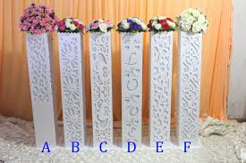 wedding arches and columns wholesale 6pcs wholesale luxury wedding t road column without light party