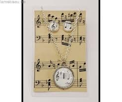 hochzeitstag geschenke geschenke musik noten upcycling set i ohrringe