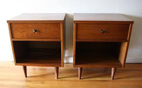 Metal Nightstands With Drawers Mid Century Modern Side End Table Nightstands Picked Vintage