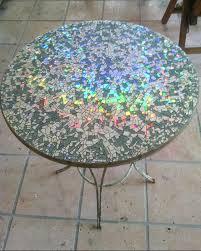 Diy Mosaic Table How To Make Mosaic Cd Garden Table Craftspiration Handimania