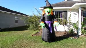 holiday 8ft tall halloween witch inflatable inflation time youtube