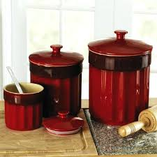 red canisters kitchen decor vintage red canister set sets target kitchen canisters decor glass