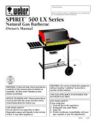 weber spirit 500 lx user manual 32 pages