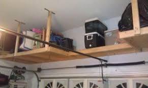 suspended garage storage loft home design ideas