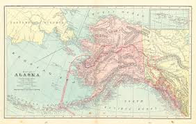 Southeast Alaska Map Maps Antique United States Us States Alaska