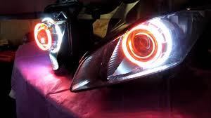 yamaha r6 halo lights yamaha r6 projector headlights bixenon hid angel eyes halo by bkmoto