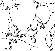 monkey coloring in pages monkey coloring