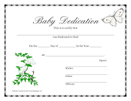 Free Online Certificate Template Baby Dedication Invitations