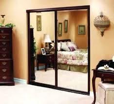 Bedroom Closet Sliding Doors Sliding Mirror Closet Door In X In Polished Edge Mirror Framed