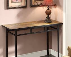 Metal Entry Table Architecture Metal And Wood Sofa Table Sigvard Info