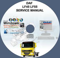 daf lf45 lf55 service repair manual on cd www