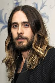long ombre hair for men jared leto before he got the chop