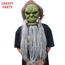 Realistic Scary Halloween Costumes Aliexpress Buy Orc Guldan Mask Game Movie Realistic Latex