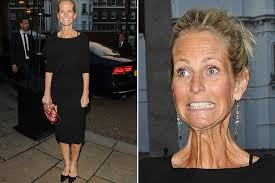 hairstyles to disguise turkey neck ulrika jonsson shows off unflattering turkey neck while out at