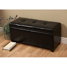 warehouse bench warehouse of tiffany ariel dark brown faux leather storage bench