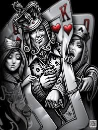 kingpin poster king of hearts and grey tattoo pinterest art