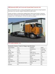 kenworth trucks for sale in canada 1988 kenworth k100 used trucks truck axle