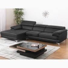 cdiscount canapé d angle cuir canape dangle cuir volupto noir angle gauche achat élégant canape