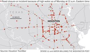 map houston airports transportation remains at a standstill following hurricane harvey