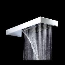 Waterfall Shower Designs Waterfall Shower Head Home Depot